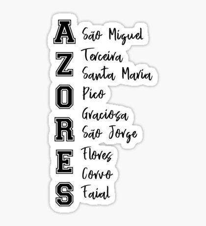 Azoren Inseln Sticker