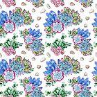 Watercolor hand painted succulent flowers pattern by Tasha-zen