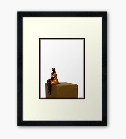 En Attendant Ses Pas... Framed Print