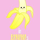 I'm BANANAS for you - Valentines Day - Anniversary - Valentine's Puns - Anniversary Puns - Funny Card - Funny Gifts - Banana Pun - Fruit Pun by JustTheBeginning-x (Tori)