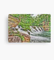 Painted San Antonio Waterfalls Canvas Print
