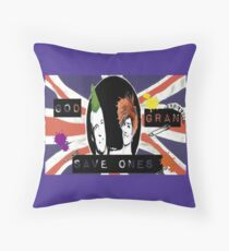 God Save One's Grandma Throw Pillow