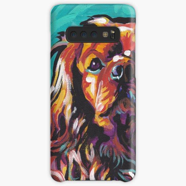 cavalier king charles spaniel Dog Bright colorful pop dog art Samsung Galaxy Snap Case
