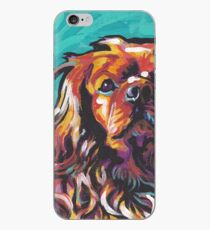 cavalier king charles spaniel Dog Bright colorful pop dog art iPhone Case