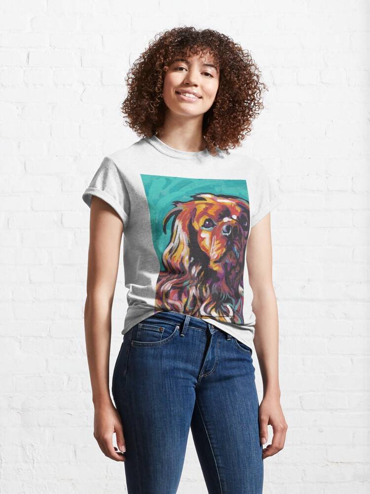 Alternate view of cavalier king charles spaniel Dog Bright colorful pop dog art Classic T-Shirt