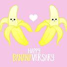 Happy BANANAversary - Happy Anniversary - Anniversary Pun - Banana Pun - Funny Anniversary Card - Gift - Cute  by JustTheBeginning-x (Tori)