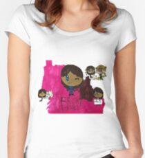 Frisky Frisk Stuff inspiriert von Undertale Tailliertes Rundhals-Shirt