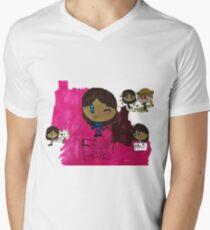 Frisky Frisk Stuff inspiriert von Undertale T-Shirt mit V-Ausschnitt