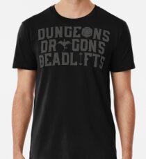 Dungeons & Dragons & Deadlifts Men's Premium T-Shirt