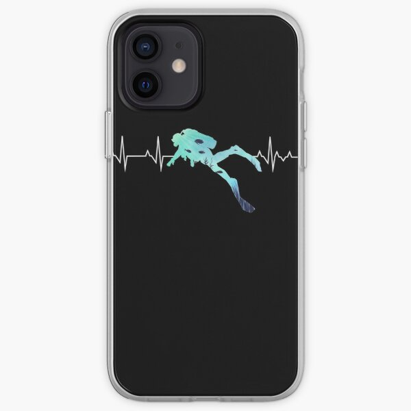 Scuba Diving Heart Beat - Best Gift for Diver iPhone Soft Case