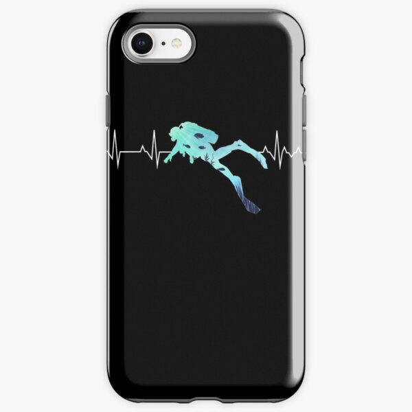 Scuba Diving Heart Beat - Best Gift for Diver iPhone Tough Case