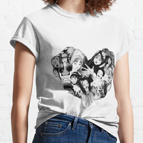 junji ito Tomie Valentines Day 1 Collage Classic T-Shirt