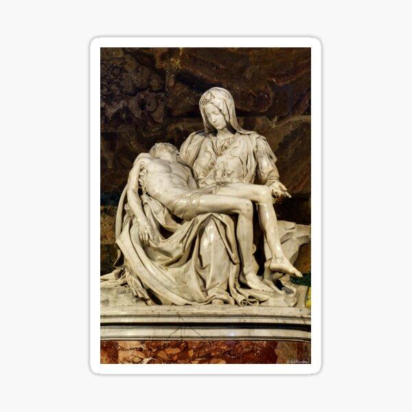 Michelangelo La Pieta closer Sticker