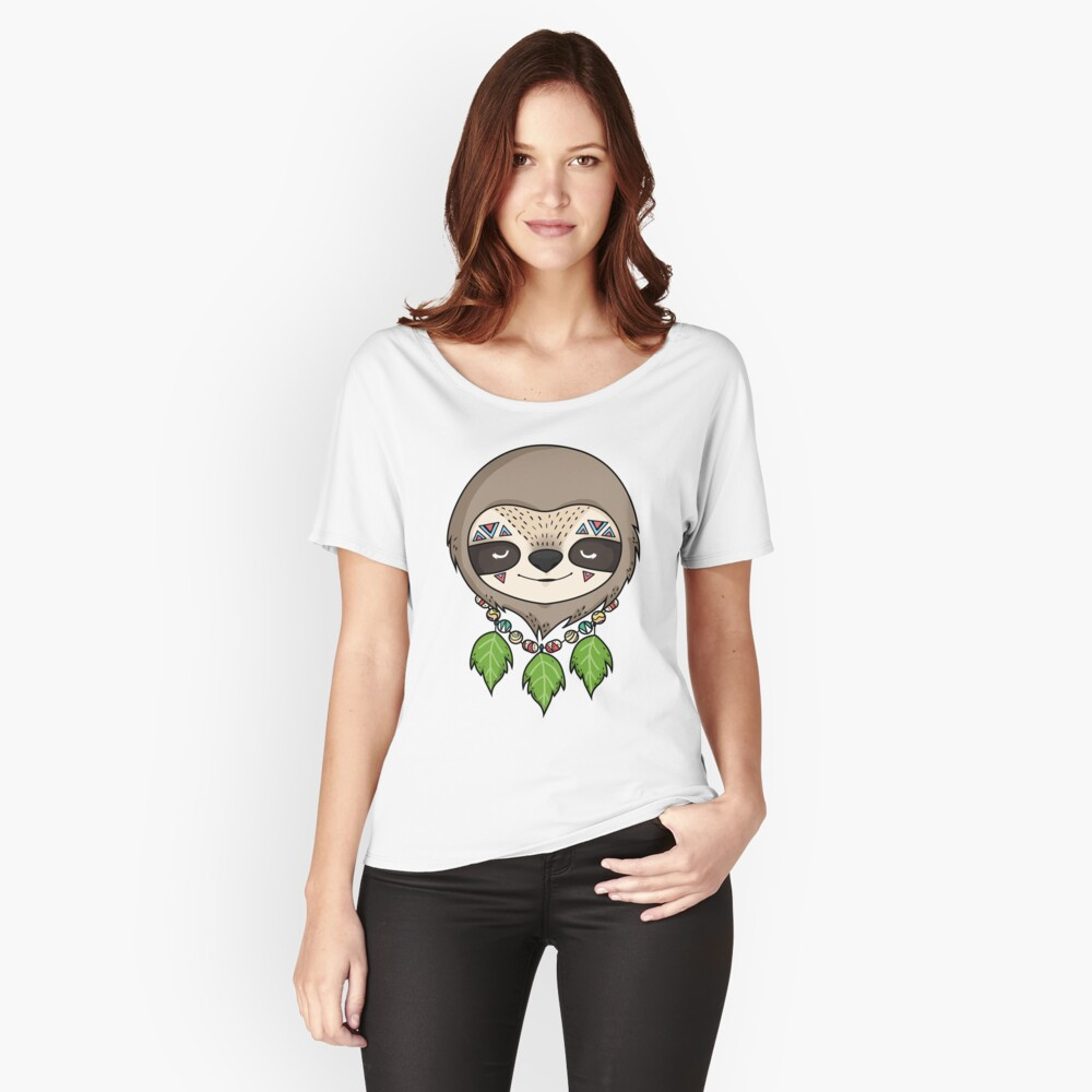 Sloth Head Women's Relaxed Fit T-Shirt Front