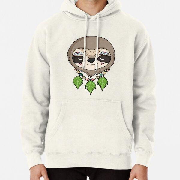 Sloth Head Pullover Hoodie