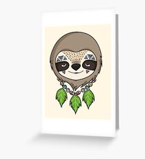Sloth Head Greeting Card