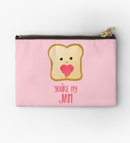You're my Jam - Valentines Day - Valentines Pun - Anniversary - Anniversary Pun - Jam Pun - Cute Jam - Bread Pun - Adorable Zipper Pouch