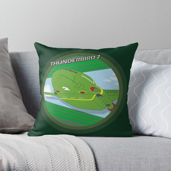 Thunderbird 2 badge Throw Pillow