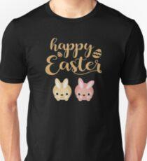 Happy Easter Golden Sweet Rabbits Unisex T-Shirt