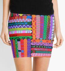 Pattern Sticks Mini Skirt