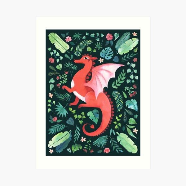 Tropical Dragon Art Print