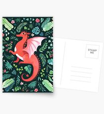 Tropischer Drache Postkarten