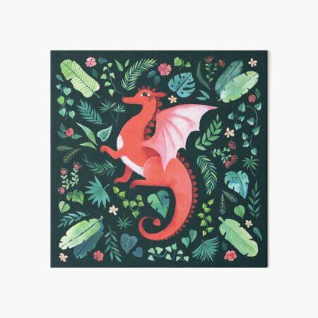 Tropical Dragon Art Board Print