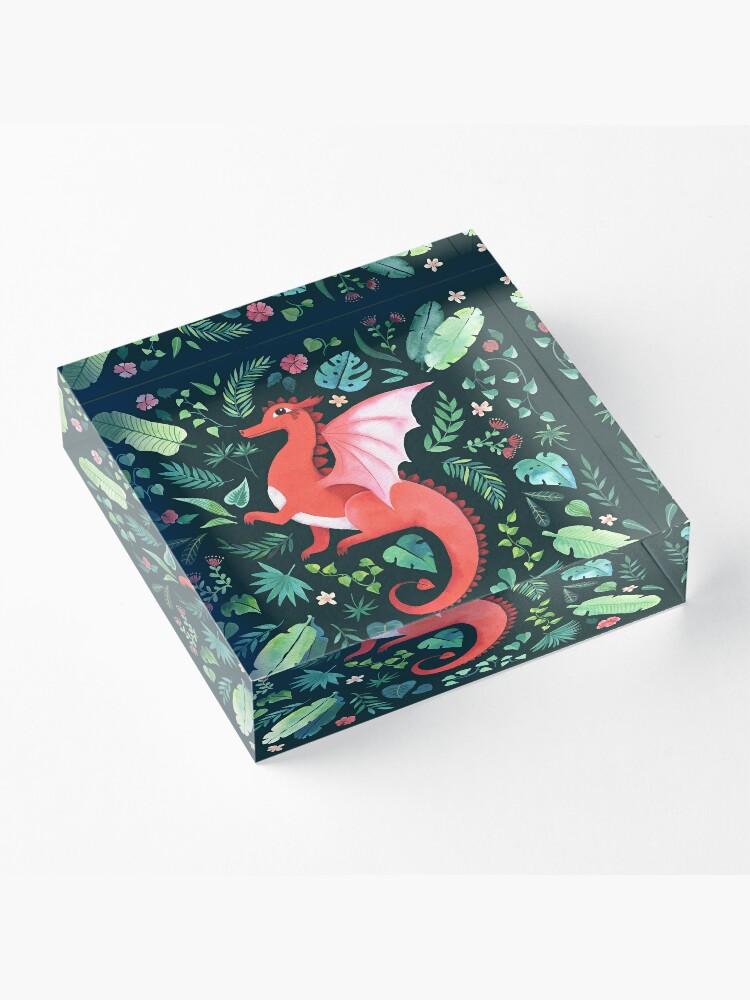 Alternate view of Tropical Dragon Acrylic Block