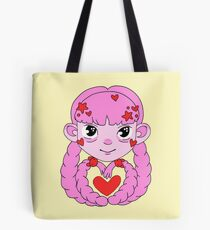 Heart Twintails Pink Version Tote Bag