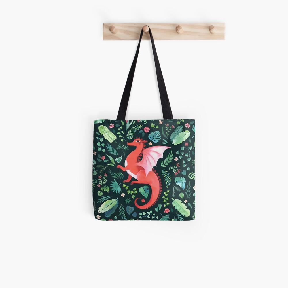 Tropical Dragon Tote Bag