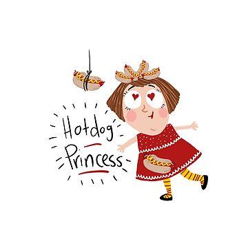 Hotdog princess by laurathedrawer