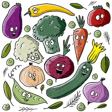 Vegetables are friends by laurathedrawer