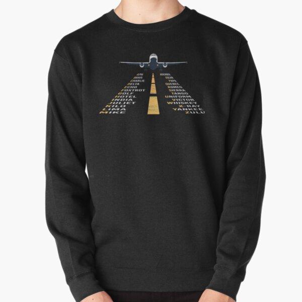 Phonetic Alphabet Design   Pilot Cadet Airplane Art Pullover Sweatshirt
