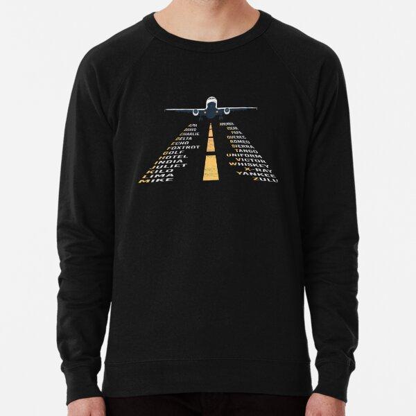 Phonetic Alphabet Design | Pilot Cadet Airplane Art Lightweight Sweatshirt