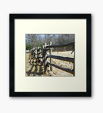 The Old Fence Framed Print