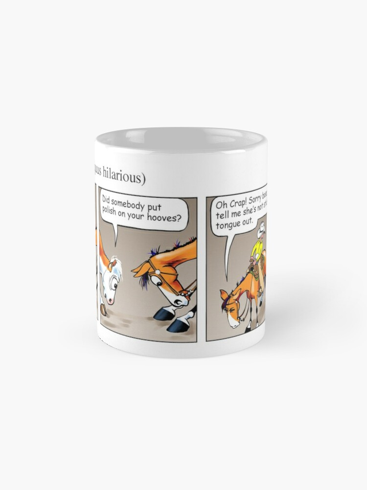"Alternate view of Fergus the Horse: ""Sneaky Cow"" Comic Strip Mug"
