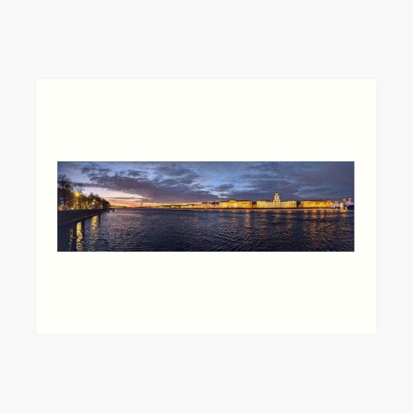 Twilight Panorama on the Neva Art Print