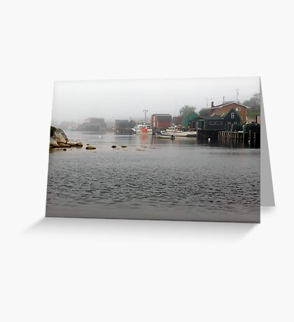 Foggy Day in West Dover Greeting Card
