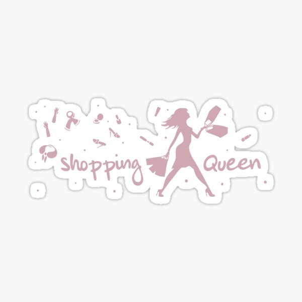 Shopping-Queen in Rosa Sticker