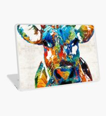 Bunte Kuh-Kunst - Mootown - durch Sharon Cummings Laptop Skin