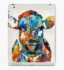 Colorful Cow Art - Mootown - By Sharon Cummings iPad Case/Skin