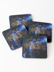 Time Lord Writing (blue) Coasters