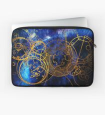 Time Lord Writing (blau) Laptoptasche