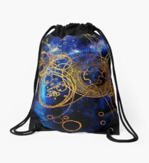 Time Lord Writing (blue) Drawstring Bag