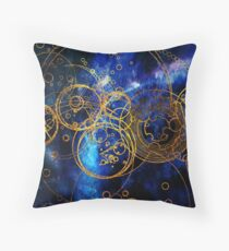 Time Lord Writing (blue) Throw Pillow