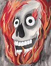 Skull with Flames by Kayleigh Walmsley