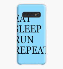 EAT SLEEP RUN REPEAT Case/Skin for Samsung Galaxy