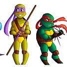 «Chibi Mutant Ninja Turtles» de Silver-Monster