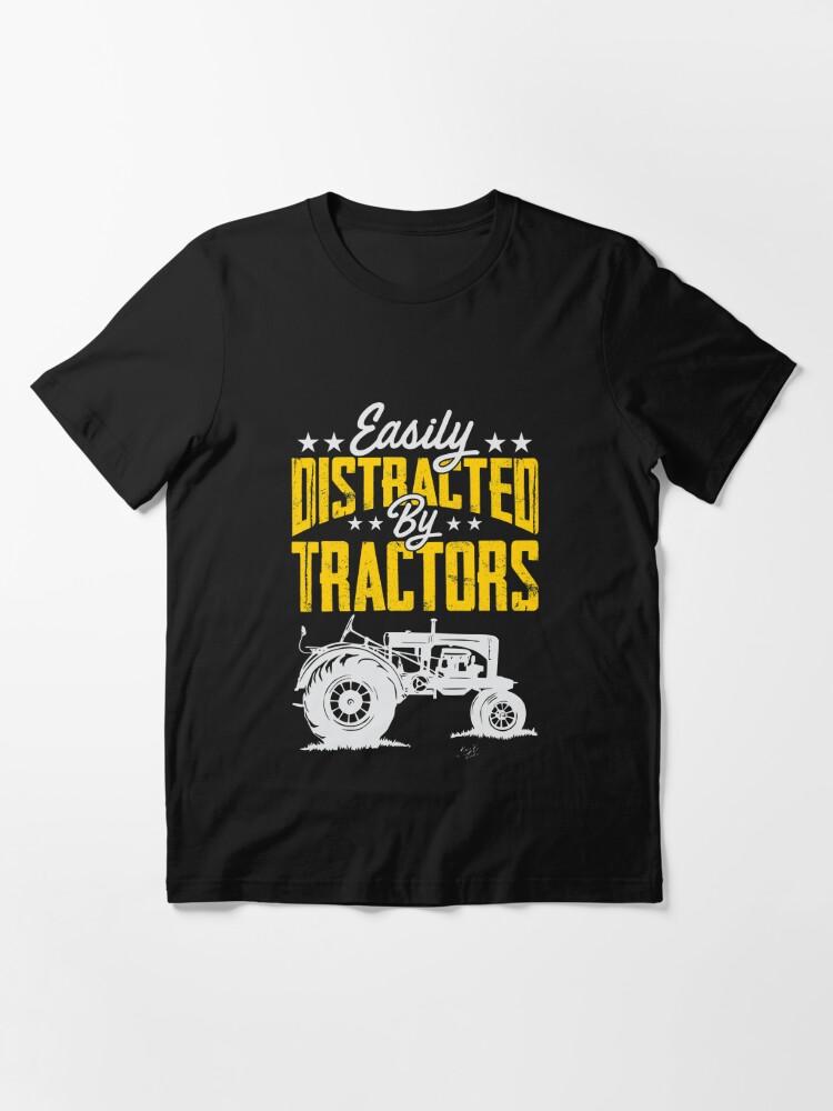 Distracted By Tractors T-Shirt Funny Tshirt Tee Men Women Gift Top