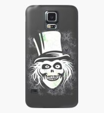 HATBOX GHOST WITH GRUNGY HAUNTED MANSION WALLPAPER Case/Skin for Samsung Galaxy